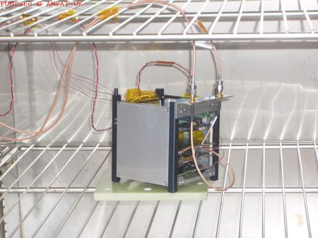 FUNcube EM in air oven at RAL July 2011